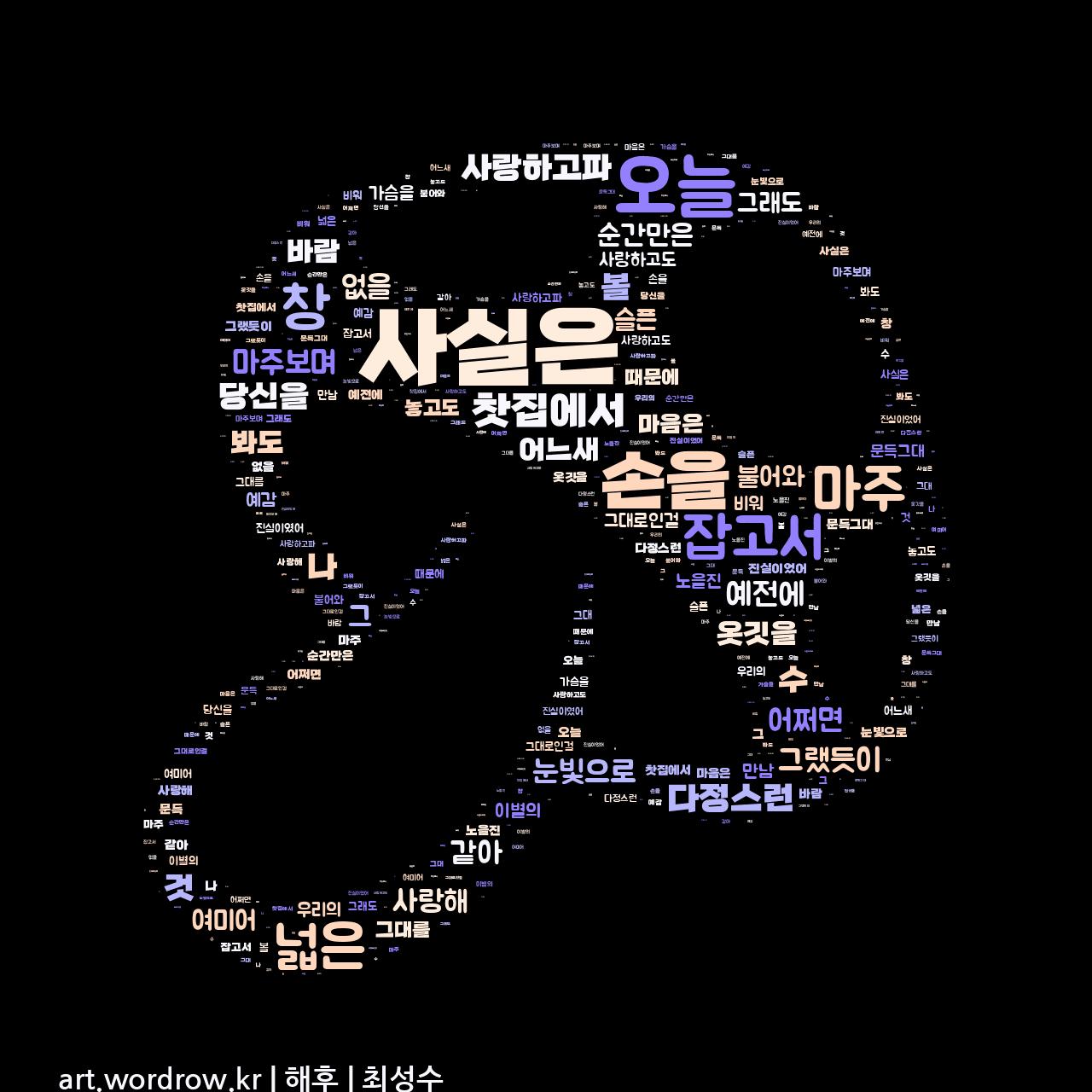 워드 아트: 해후 [최성수]-60